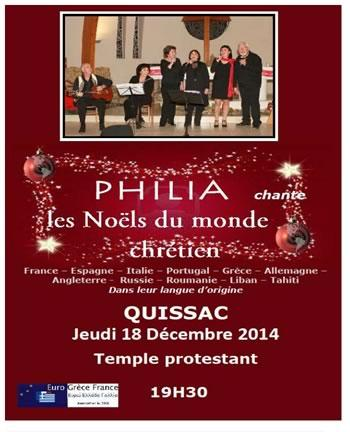 Chants de noël à Quissac